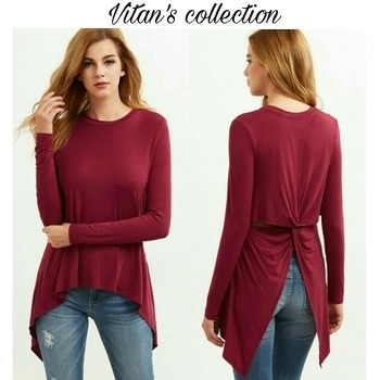 Get this stylish burgundy twist back top..😍😍 Sizes- M and L size  Message us to know more details.  Shop link in the bio section  #shop #shopnow #shoponline #shopaholic #shoptillyoudrop #fashion #trendy #trendsetter #girls #clothing #bestylish #befashionable #trendalert #onlinestore #vitanscollection #roposo