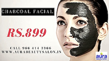 #charcoalfacial  get the latest #facialcare in #mumbai only at www.AuraBeautySalon.in / Call to  #book-now @ 9664143366  #facial #beauty #ropo-beauty #beautytips #beautydeals #beautyoffers #activated charcoal for skincare #charcoalfacepacks