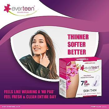 everteen skin thin sanitary pads.