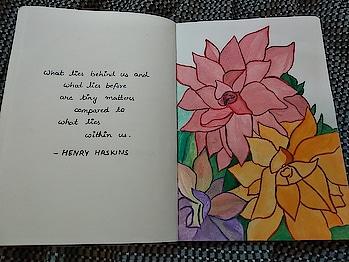 Words of wisdom.  #watercolours #painting #flowers #colorsoflife #paint #hobby #freetime #words #wisdom #wordsofwisdom #positivevibes #freetime