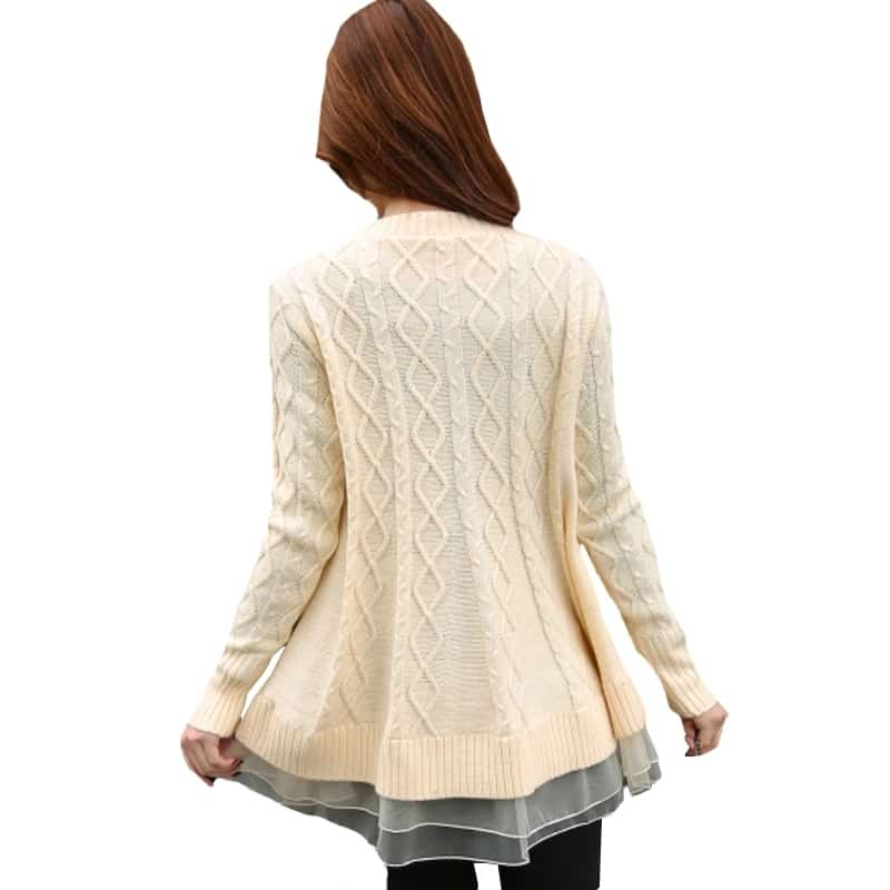 For buy Wats up to me 9971200243 Winter Women Knitting Sweater  Solid O-neck   Sweater   Size free size   Price   799
