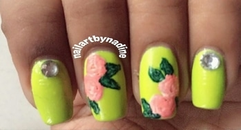 #nail #nails #nail_art #nailartpics #fashion #nailswag #rose #green #nails #nailsoftheday #pictureoftheday #nailpolish  #nailaddict  💅💅 #like4like #follow4follow