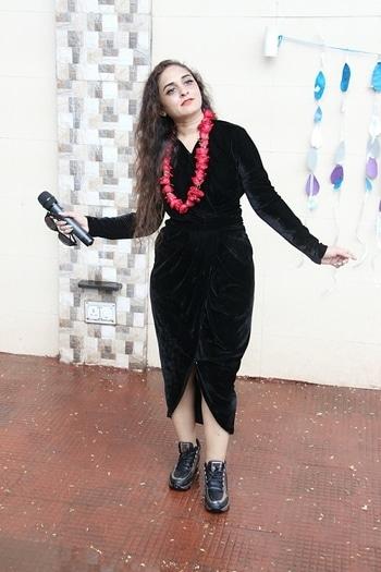 velvet#rose garland#trendy boots#unkept rain drained hair#orange tint lips#nude face#gypsysoul