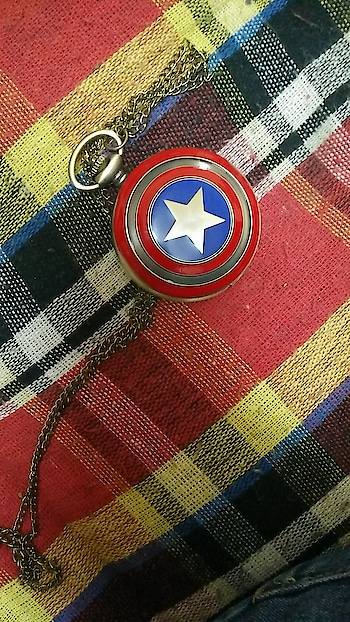 Absolutely loving my new pocket watch. #captainamerica #marvel #pocketwatch #watch