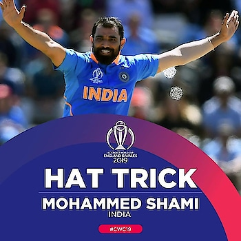 ICYMI: Mohammed Shami secured the first #CWC19 hat-trick to bring it home for India in Southampton!  #AFGvIND  #lovecricket #cricket #ic #cwc19