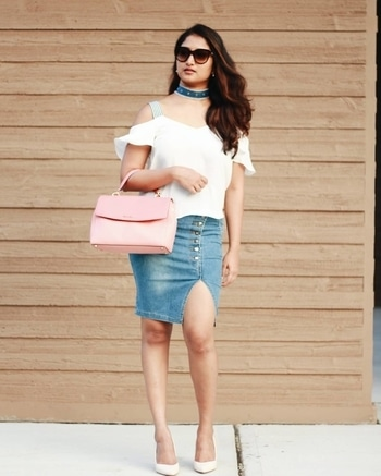 denim obsession #denimskirt #denimchoker #ootd #fashionista #todayslook #wiwt