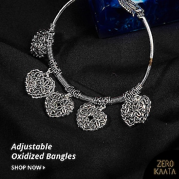 Oxidized #charmbracelets are perfect to add a quirky appeal to your overall look. The best thing about oxidized bracelets is that they are very lightweight hence easy to wear.  Our collection of #adjustbale #oxidizedbracelets feature quirky designs which can be adorned with your casuals, westerns and indo-western outfits alike.  Shop these at ZeroKaata and sign up with us to get 15% off on your first order!  #zerokaata #tribalbyzerokaata #oxidizedjewelry #oxidizedbangles #oxidizedbracelet #banglelove #bangleslove #bangleset #braceletstyle #bohobracelets #handmadebracelets #braceletsofinstagram #charmbracelets #armcandyoftheday #braceletsforsale #braceletfashion #braceletswag #braceletshop #germansilverjewellery #jewelleryaddict #jewelleryshop #bodyjewellery #jewelleryart #oxidisedjewellery #artjewellery #imitationjewellery #jewellerymaking