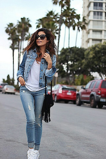 Denim on denim💜 Done right🌠👖👟 #denimlook #denimlove #denimmoments