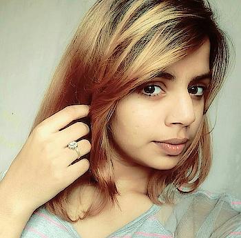 #blondehair #shorthair #style-file #greytop #pink #dimond  #ring