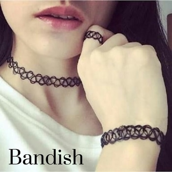 Bandish Elastic Braid Choker Set Choker cum Thigh Line; Bracelet cum Armlet cum Payal; Ring cum Toe ring Be creative and amazing everyday with a new way to sport it.. WhatsApp or Call on 9716070100 to get your set.. Delivery across India..  #bandish #bandishcollections #jewellery #earrings #fashionjewellery #indianjewellery #imitationjewellery #onlinejewellery #partyjewellery #pearl #pearls #pearljewelry #indianjewelry #fashionjewelry #onlinejewelry #imitationjewelry #ethnicjewelry #weddingjewelry #choker #chokernecklace #elasticbraid #westernjewelry #westernjewellery #gothiclook #gothicstyle #tattoochoker #tattoochokerbracelet #blackchoker #modernjewellery #modernjewelry