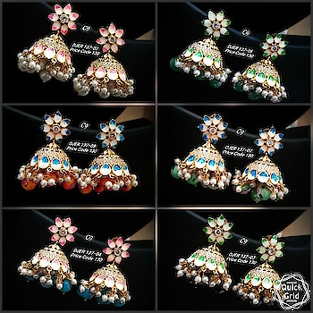 Price : Rs. 1350 each pair Shop outside the box wid thse pretty handpainted jhumkas 😘 Note : plz do ask for individual pics if needed🙏 #earring #grabnow #newarrival #beautifuljewellery #igers #celebrityjewellery #delhi #mumbai #designer #jewelsofinstagram #glamorzia #streetstyle #trendy #uberchic #jewelleryaddict ##celebrityjewellery #colorful #jewelleryaddict  #semiprecious #gorgeous #asians #indianwomen #fashionaccessories #fashionjewellery #partywear #cocktailparty  #studs #receptionwear #uniqueearrings #