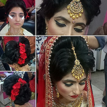 orchid #realbride #traditionalbride#cutcreaseeyemakeup#red lips 💋💋💋#beautifulhairstyle #happyclienthappyus