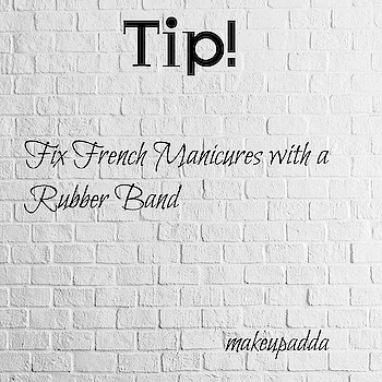 Tip of the Day  . . Fix French Manicures with a Rubber Band . . . This is very easy, and saves you from having to go back to your manicurist.  Wrap a rubber band around your finger so it lies straight across the nail. Then, use some polish to fix the part of the nail that is sticking out at the top. . . . . . . . . . . . #manicure #tipoftheday #nailcare #diyoftheday #diy  #indianbeautyblogger #indianbeautyblog #beautyblogger #beautyinfluencers #bangalorebeautyinfluencers #influencer #bangalorebeautyblog #bangalorebeautyblogger #mumbaibeautyblog #mumbaibeautyblogger  #bangaloreinstagrammers #mumbaiinstagrammers #bangaloreinstagram #mumbaiinstagram #beautyhacks  #beautyhackoftheday #nailhacks #hacks #simplehacks #hackoftheday