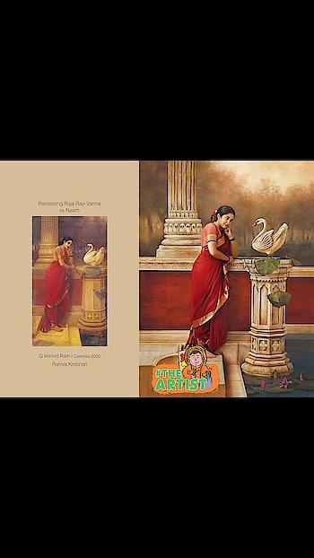#roposocreativespace Renowned #photographers_of_india  G Venket Ram's Calendar #2020  for Naam - Recreating Raja Ravi Varma paintings... with #southindianactress.😍#ramyakrishnan 🌹