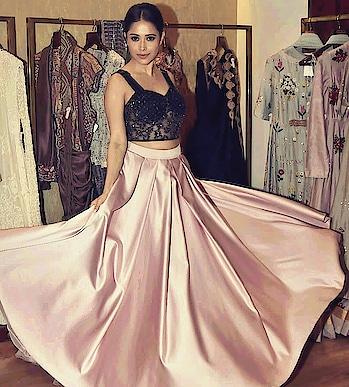 #satin skirt #embellished #perfect #designer dress