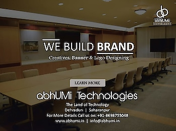 """Making Promises & Keeping Them is a Great Way to Build a Brand.""  We Build Brands.    ✔️ Logo Designing   ✔️ Banner Designing   ✔️ Custom Designing   ✔️ Template Designing   ✔️ Poster Designing   ✔️ Brochure Designing   ✔️ Catalogue Designing  Visit us for more details Email: info@abhumi.in Contact: +91-9105152310, +91-8698755048  #abhumi #webdesign #logodesigning #bannerdesigning #customdesigning #templatedesigning #posterdesigning #brochuredesigning #cataloguedesigning #technologies  #domainhosting #searchengine #IT #development #business #google #dehradun #ITSolutions #bestservices #india"