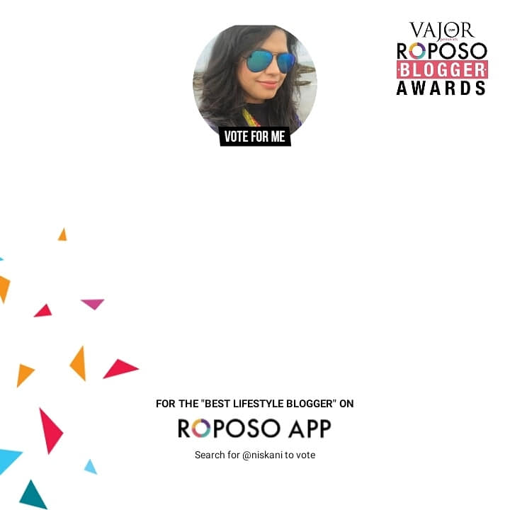Hello everyone. Please vote for me in the Best lifestyle blogger category on roposo. If you really like my lifestyle posts on food trips, travel and latest fashion on my blog www.hoppingheels.com then show your love and do vote for me. To vote for me search @niskani on www.roposo.com . It will hardly take 2-3 minutes. Thank u  u so much for all your love and support. #Roposo