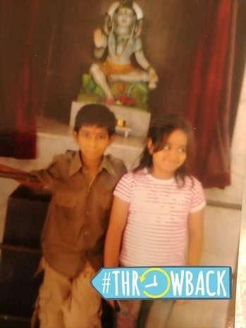 me with my cousin was 7 yrs old that time  still my friend n enemy for life... always fighting with him... 😜😜😜 #throwback