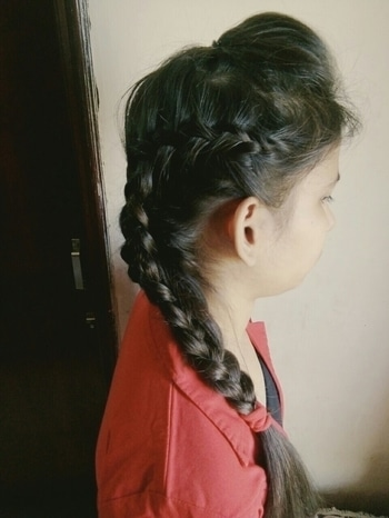 #sidefrenchbraid #braids #longhair #beauty #puffeduphair