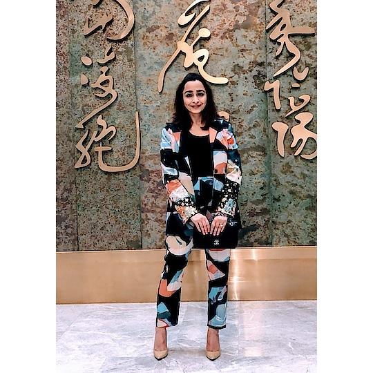Weekend begins all happy with #popxo CEO @priyankagill_official wearing #fragmentsbynityabajaj in #beijing Styled by @drishtysingh  @popxodaily @popxo.wedding @popxofashion @popxogirls @popxohealth @popxobeauty  @popxohealth @popxo.hindi #Repost @popxofashion  #WhenInBeijing you better bring your fashion A-game.  Our CEO & Founder, @priyankagill_official is touring #Beijing with 11 other founders in tech Styled by @thebigfuzzyglove, @drishtysingh #WomenInTech  #labelnityabajaj #NITYABAJAJ #Fragments #Springsummer2018 #pantsuit #printedpantsuit #print #styling #popxofeatures #popxofashion