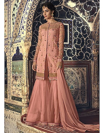 Make this festive season remarkable one with #partywear suits available  @manndola.com   Grab Up To 65% OFF and get extra 10% OFF on all orders above $199 using code EXTRA10 & get extra 15% OFF on all orders above $299 by using code EXTRA15 !!  Light up your ethnic style with a Stunning Peach Partywear Sharara Style Suit.This stunning apparel comes with Embroidered Net kameez and Dyed Santoon inner.The same Suit which will snatch your glance for sure.This Garment features gorgeous embroidered net Bottom and four sided embroidered bordered net Dupatta.  #newarrivals #newlaunch #partywear #shararastylesuits  #net #embroidery #shararasuit  #style #photography #instamood #instaupload #fashion #indianfashion #ethnic #usa #india #canada #australia #dubai #uae #mauritius #london #uk #shoponlinenow