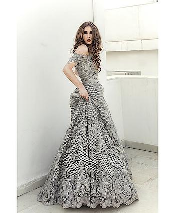 The gorgeous @kelifiorin shot by the very talented @navindhyaniphoto for #meshbynityabajaj  Hair and makeup @avneetkhuranamakeovers  #labelnityabajaj #NityaBajaj #Mesh #autumnwinterfestive2018 #silvergrey #silver #crystals #bridalwear #bridal #weddinggown #gown #eveninggown #eveningdress #crytalmesh