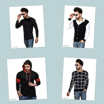 Check bio and dm me for shopping Catalog Name : *Urbane Men's Classy Cotton Blend T-Shirts Vol 3*  Fabric: Cotton Blend  Sleeves: Sleeves Are Included  Size: S, M, L, XL, XXL (Refer Size Chart)  Length: Refer Size Chart   Type: Stitched  Description: It Has 1 Piece Of Men's T-Shirt  Pattern / Work: Solid / Printed / Striped  Dispatch: 2 - 3 Days  Designs: 17  Easy Returns Available In Case Of Any Issue #fashion  #clothes  #menswear  #womenswear  #shirts  #tshirts #jacket  #shoes  #sneakers #watches  #earphones  #powerbank  #shorts  #dresses  #pants #heels  #highheels #beautiful  #saree #indianculture  #indian #onlineshopping  #bestdeals  #bestproducts #jewellery  #earrings #maharashtra #delhi #gujarat