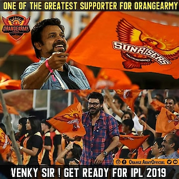 #victoryvenkatesh.....🏏🏏#strong supporter of the srh team #venkateshdaggubati #sunrisershyderabad #srh #srhfan #srhwon #cheering for sunrisers hyderabad - srh #orange_army  sunrisers hyderabad#srhiism #ipl #ipl2019 #cricket #cricketfever #cricketmerijaan #roposohero