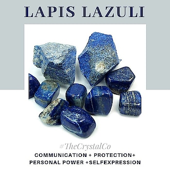 Crystal for COMMUNICATION, PROTECTION, SELF-EXPRESSION & PERSONAL POWER ○○○○ Lapis Lazuli is an excellent crystal for PUBLIC SPEAKING and for those associated with the ARTS, particularly SINGERS and MUSICIANS. It also proves Effective for EXECUTIVES, JOURNALISTS and PSYCHOLOGISTS, stimulating wisdom and good judgment in the practical world.  Lapis is said to activate the THROAT CHAKRA and has often been used to support a higher more advanced form of COMMUNICATION. ○○○ WEAR it for all forms of DEEP COMMUNICATION.  Have one of your own with @tanveey #thecrystalco ○○○  Benefits of Lapiz Lazuli in BUSINESS LIFE:  1.For fame in a Creative or Public Performance- related area Lapis is the best Crystal to wear/carry.  2. It attracts Promotion, Success and lasting recognition in your field.  3. It unveils your Inner Truth and teaches you Self- Expression.  4. Lapis Lazuli is a crystal of Protection to guard against Negative energy.  5. It is also a crystal of Friendship and brings harmony in Relationships. ○○○ Lapis is also helpful for children with Asperger's Syndrome, Autism or Attention-Deficit Disorder. #lapislazuli #crsytal #crystalhealing #wellness #goodvibes #goodlife #communication #strength #personalgrowth #chakras #tanveeykapur #thecrystalco