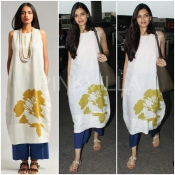 Yay or Nay : Diana Penty in Payal Khandwala  Diana Penty looks pretty in white at airport.