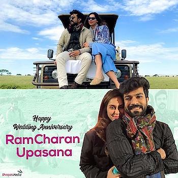 Wishing the most adorable and royal couple Upasana Konidela and Ram Charan a happy wedding anniversary. Many more to come and cherish! 😍  #HappyAnniversaryCharanUpasana