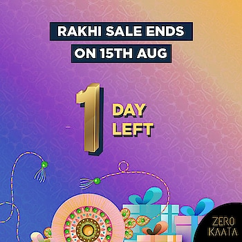 #rakhisale will end tomorrow  This is your #lastchance to get upto 80% off across website and a free beauty kit with every order of Rs 499 and above  Visit www.zerokaata.com to shop now  #zerokaata #tribalbyzerokaata #rakhigifts #rakhigiftsforsister #giftsforrakhi #rakshabandhanspecial #rakshabandhan #rakhi2019 #rakhigiftforsister #rakhigiftstosister #rakhigiftsforsisterunder500 #rakshabandhangifts #festivaljewelry #festivaljewellery #festivecollection #festiveseason #festivalfashion #festivevibes #giftsforwomen #giftsforgirls #giftsforyou