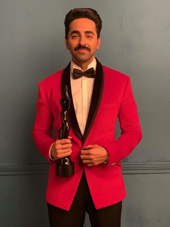 Best actor in a leading role (critics) for #Andhadhun  Thank you Filmfare #ayushmannkhurrana #filmfare #2019trending