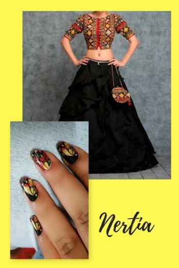 Navratri Nail art Stickons #nails #nailart #nail-addict #nailartdesigns #nailsoftheday #nail-designs #nertia #nertia_nailwear #nertiastickons #navratri2017 #navratricollection #navratrispacial #navratri2k17 #durgapuja #durg