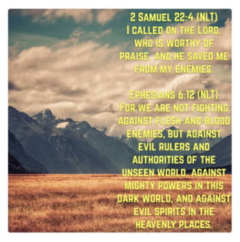 Most of us says, 'Seeing is Believing' but there are things that we cannot see!  A SPIRITUAL WARFARE, Our spiritual battles & warfare are real, we fight with the enemy in SPIRITUAL REALM. PRAISE God, HE never fails in delivering us from all Evil.