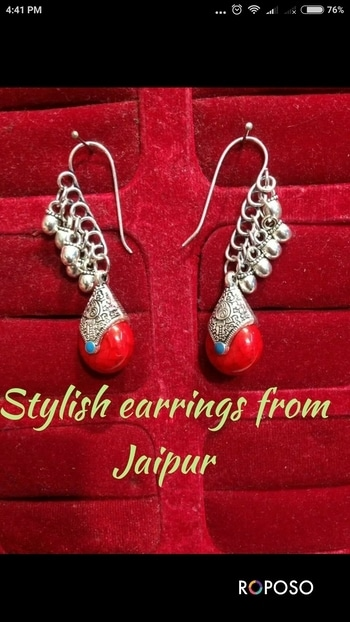 #Rajasthani #oxidised #trendy #earring