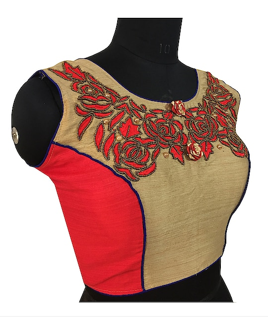 designer embroidered and hand work blouse   for order inquiry visit our office no 91 9737250781