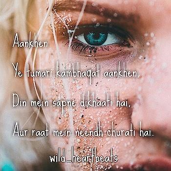 Aankhen  #roposogal #roposofashionista #roposolove #like4like #roposofam #soulfulquotes #roposowriter