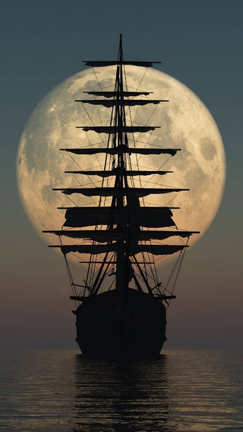 #ship #sea #capture #water #evning #photographyeveryday #moonlight #moon #fullmoon
