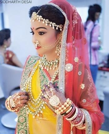 beautiful girl+makeup +jwellery=perfect bride..mah favourite 👌👌