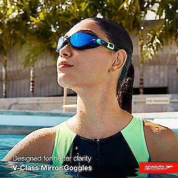Charun Optic SPEEDO Authorised Store SPEEDO Swimming Goggles  SPEEDO Virtue Mirror Goggles This range of anti-fog goggles are perfect for a anytime swim. It features long-lasting anti-fog lens for a better in-class vision and a leak-free fit.  V-Class eyewear combines style and performance to deliver a new standard in underwater vision. Every aspect of V-Class has been considered - from class-leading lens technology, to award-winning design details which make all the difference.V-Class pushes the limits, so you can push yours.  Features & Benefits Fabric Composition : LENS: Polycarbonate, SEAL: ThermoPlastic Elastomer, FRAME: ThermoPlastic Elastomer, STRAP: Silicone  Manufactured using premium materials with precision engineering. Size, shape and style designed to specifically compliment the female face. New superior Anti-Fog technology for 2 times longer lasting vision. IQfit™ 3D goggle seal for a leak-free, secure fit and reduced marks around the eyes. Stylish wrap around lenses for enhanced peripheral vision. Mirror lenses for reduced brightness and ultimate style. Dynamic Side Clip for easy adjustment and a secure fit. Reusable polycarbonate storage case keeps your eyewear protected pre and post swim.  Swimming Goggles can be made with your Spectacle Numbers  Exclusively Available Only @ C O Charun Optic For Orders Call/WhatsApp +919898335547 Follow Us @ All Social Media Easy Shipping Across World Shop Online @shop.charunoptic.com www.charunoptic.com  #charunoptic #Swim #swimming #Lovetoswim #speedo #speedoauthorisedstoreinahmedabad #speedoeyewear #speedoswimminggoggles #speedoswimmingsunglasses #poweredswimminggoggles #swimmingastigmatismsunglasses #speedostore #speedoahmedabad #eyewear#sunglasses #eyeglasses #optician #poweredsunglasses #prescriptionsunglasses #astigmatism #cylindrical #mirror #reflectors #ahmedabad