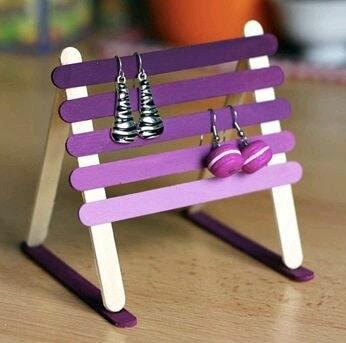 easy n super use...#diy earrings hanger...