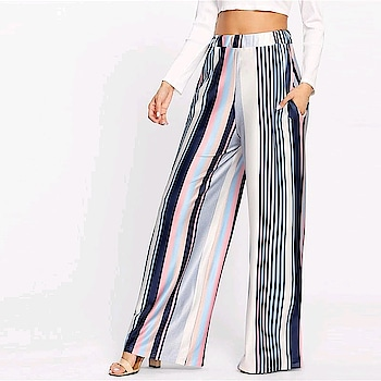 Fresh New Arrivals added to our uber cool collection! Buy this Vertical Stripe Wide Leg Pants at just ₹1286/- . | Cash on Delivery with Easy Returns & Exchanges || Up-to 100%* Money Back Guarantee! | Satisfaction Guaranteed | .  #girls #style #trending #poshgrid #trendy #india #party #ootd #newarrival #jumpsuit #topshop #fashion #partywear #tops #romper #blouses #women #womensfashion #photooftheday #vogue #pants #womenspants