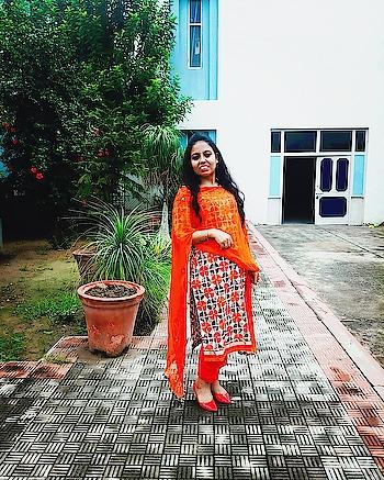#roposovlogger #youtubecreatorindia #ethnicwearwomen #traditional #suitlook #suitlover #orangecolour #vloggerlifestyle #followforfollow