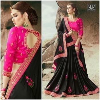 Buy Now @ https://goo.gl/JHBQ8B  Attractive Black and Pastel Color Georgette Designer Saree  Fabric- Georgette  Product No 👉 VJV-AVIV213  @ www.vjvfashions.com  #chaniyacholi #ghagracholi #indianwear #indianwedding #fashion #fashions #trends #cultures #india #womenwear #weddingwear #ethnics #clothes #clothing #indian #beautiful #lehengasaree #lehenga #indiansaree #vjvfashions #bridalwear #bridal #indiandesigner #style #stylish #bollywood #kollywood #celebrity #outfits #vjvfashions #sarees