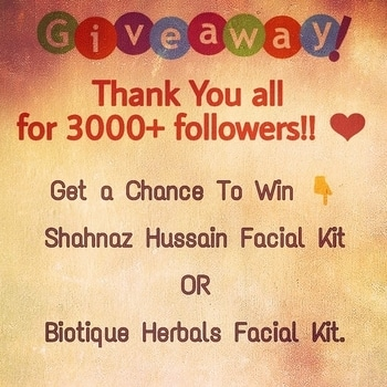 * * GIVEAWAY OPEN * * Thank you all for 3000 + followers on Instagram. 💕 . . Here is a small token of love from my side as a giveaway. 🎁 . . Visit www.instagram.com/amritkaur_amy to participate and win Biotique Herbals Facial Kit or Shahnaz Hussain Facial Kit. . . #giveaway #giveaways #giveawayindia #giveawayindia #contest #win #goodies #amritkaur_amy #dilliblogger #followme #youtube #getlucky #contestalert #instagiveaway #indiangiveaway #indiagiveaway #giveawayalertindia #participate #wingoodies #winner #giveawaycontest #giveawayshop #giveawaysph #giveawaysquishy #giveawaywinner  #giveaways  #giveawaytime  #winthis #getlucky