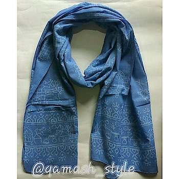 Wear your fashion right with these cool pure cotton handblock printed scarf!😍 . . Product Details- Blue Scarf  Size:70 X 200 cms  Fabric: Pure Cotton  DM for price n order . . Disclaimer: Colour may slightly vary due to lighting and specific monitor settings. . . #Qamash #qamashstyle #simplicityiselegant #pastels #scarf #handprint #handblock #tribalartisan #handmade #blockprint #natural #handmadelove #pink #lovepink #girlyfashion #tribe #stoles  #summeressentials #scarfstories #summerlove #summerwardrobe #addon #cute #trendyclothes #trendyprints #printsplay #cottons #summeraddons  #wardrobeessentials