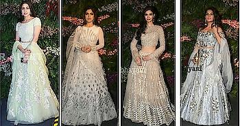 #virushkareception looks of celebrities... #saraalikhan #bhumipednekar #dianapenty #richachadha #celebrityfashion #celebritylook #virushkawedding #manishmalhotra #falguniandshanepeacock