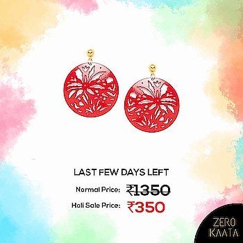 Beautiful pair of handmade Red Western Earrings  Shop at ZeroKaata's Holi Sale and Grab flat 80% off and FREE Jewellery with every purchase . . Shop at www.zerokaata.com now .  Hurry! Prices will be increased soon! . . #holisale #indiaonlineshopping #shoppinghub #assuredquality #holi #holi2019 #indianfestivals #holijewellery #jewelrystore #jewelrysale #anitquejewelryforsale #handmadejewelrysale #bohemianjewelryforsale #sterlingsilverjewelryforsale #artificialjewelryforsale #handcraftedjewelryforsale #fashionjewelryforsale #jewelryonsale #oxidizedjewellery #meenakariearrings #weddingjewelryforsale #costumejewelryforsale #affordablejewelry #bohojewelry