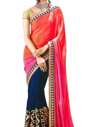 Make a sizzling statement with this superb saree from WedLista.com.  COD Available|Free Shipping| Easy Returns  Shop now: Product Code: AFRG2027    Price: Rs. 999.00  #WedLista #FashionForWeddings